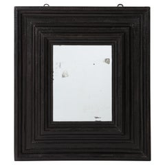 Large 17th C Italian Walnut Ebonized Guilloché Mirror, Italy