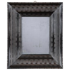 Large 17th Century Ebonised Cushion Mirror