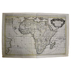 Large 17th Century Hand-Colored Map of Africa by Sanson and Jaillot