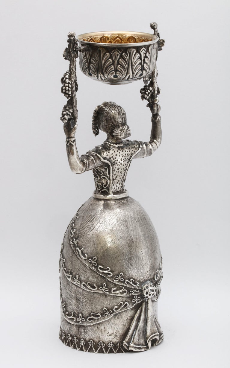 Large 17th Century-Style Sterling Silver Wager/Marriage Cup 2