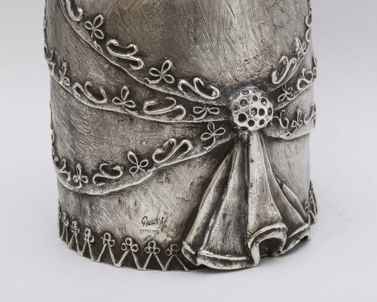 Large 17th Century-Style Sterling Silver Wager/Marriage Cup 3