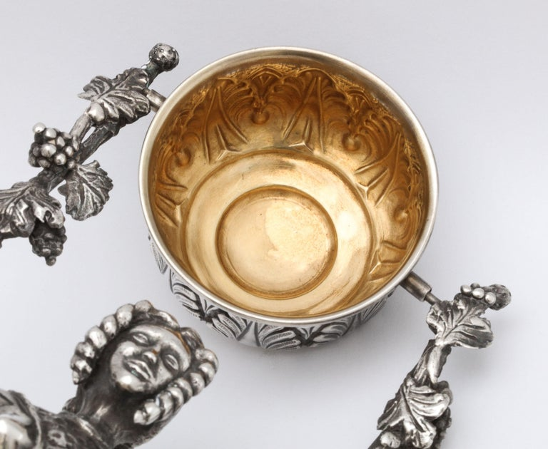 Large 17th Century-Style Sterling Silver Wager/Marriage Cup 11