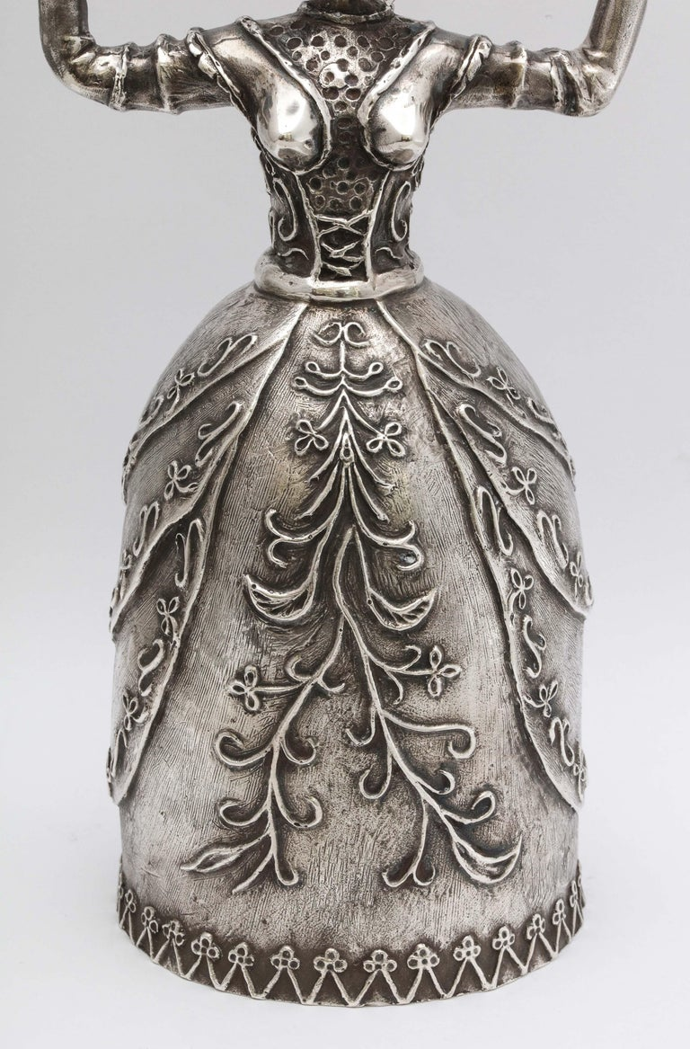 Spanish Large 17th Century-Style Sterling Silver Wager/Marriage Cup