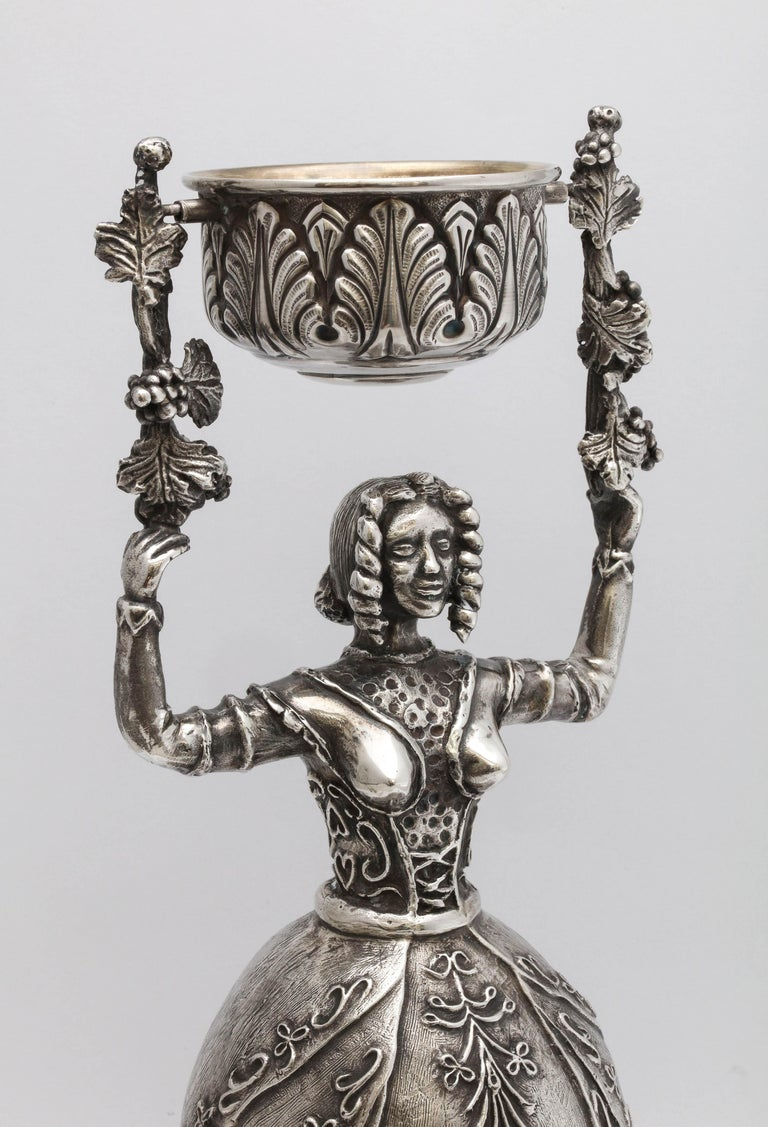 Gilt Large 17th Century-Style Sterling Silver Wager/Marriage Cup