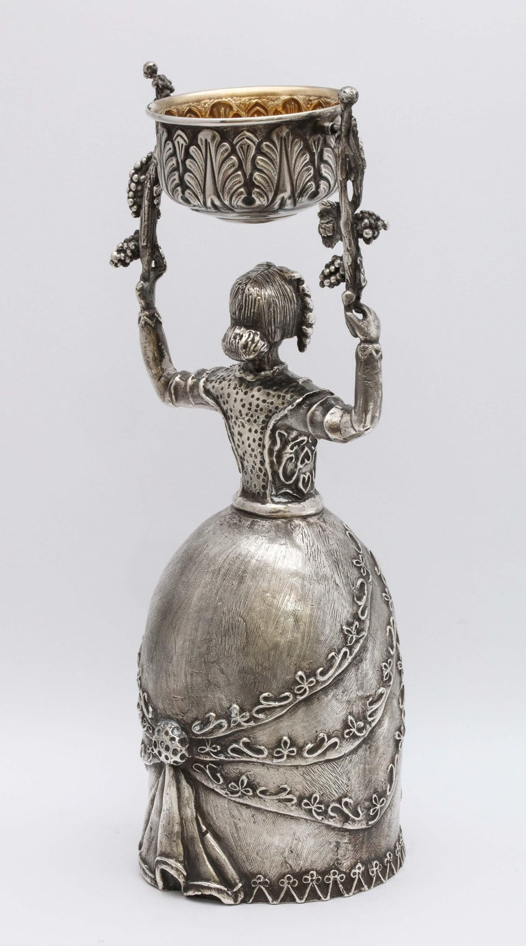 Gold Large 17th Century-Style Sterling Silver Wager/Marriage Cup
