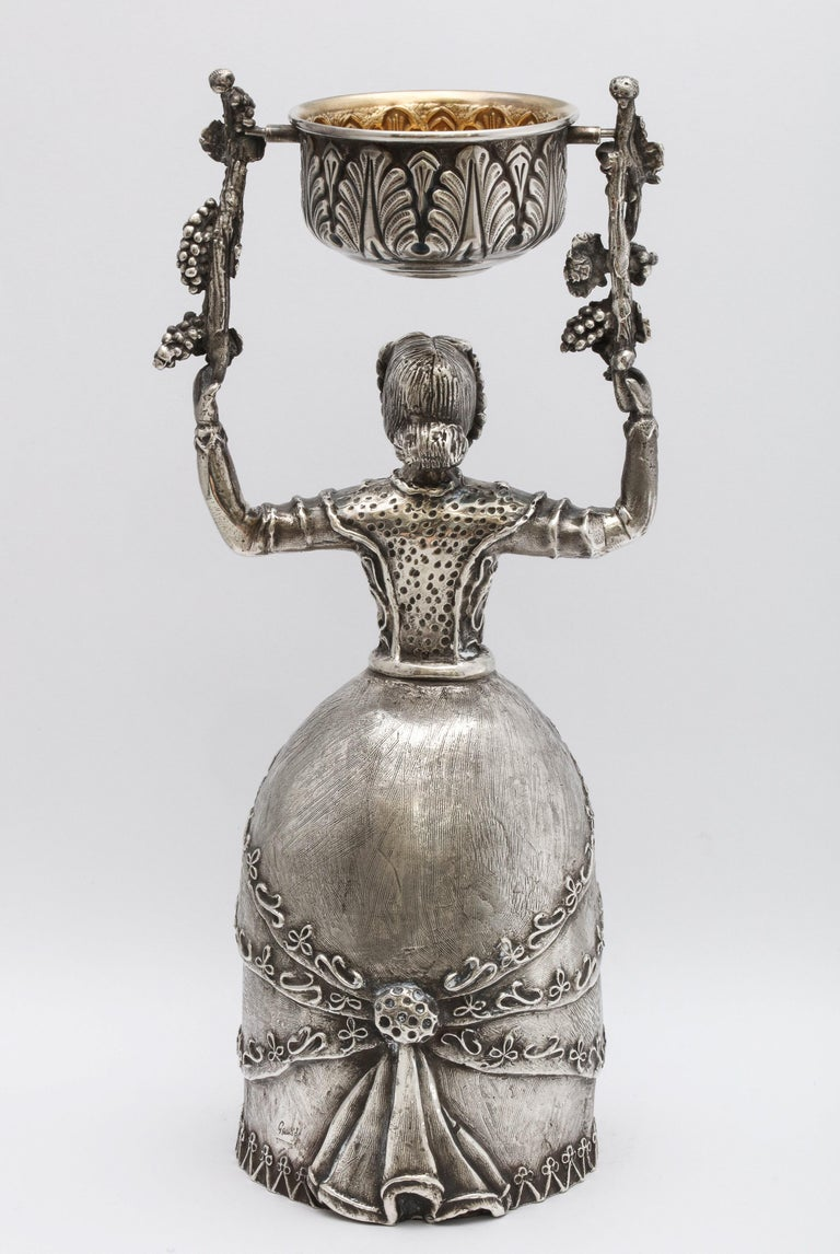 Large 17th Century-Style Sterling Silver Wager/Marriage Cup 1