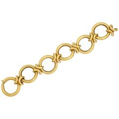 Large 18 Karat Gold Link Bracelet by UnoAErre