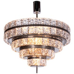 Large 18-Light Crystal Chandelier by Carl Fagerlund / Orrefors, Sweden, 1960s