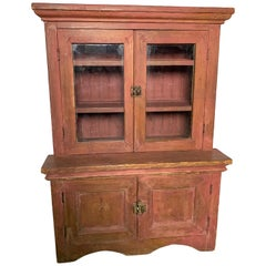 Large Child's Wooden Cupboard, ca. 1900