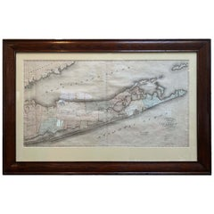 Large 1840 Map of Long Island, New York