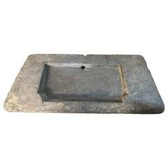 Large 18th Century Belgian Bluestone Sink