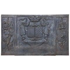 Large 18th Century Cast Iron Fireback