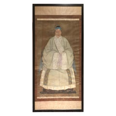 Large 18th Century Chinese Ancestral Painting on Silk