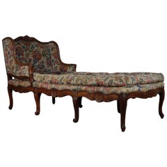 Large 18th Century French Chaise Longue, Day Bed
