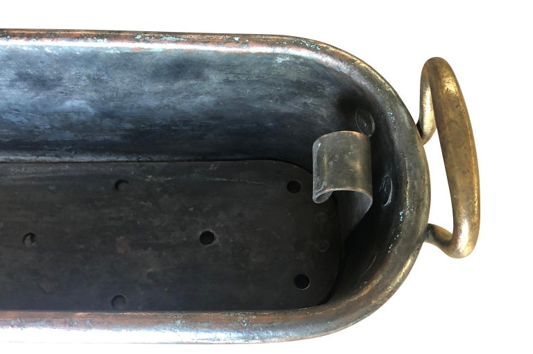 Large 18th Century French Copper Fish Pan For Sale 6