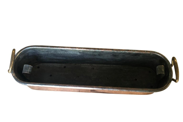 Large 18th Century French Copper Fish Pan For Sale 5