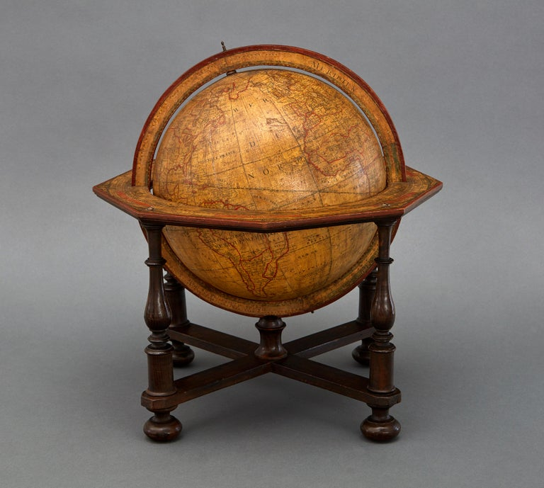 Neoclassical Large 18th Century French Library Terrestrial Globe by Jean Fortin, Paris, 1780 For Sale