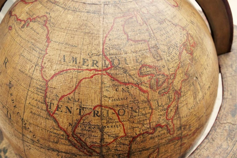 Large 18th Century French Library Terrestrial Globe by Jean Fortin, Paris, 1780 In Good Condition For Sale In Worpswede / Bremen, DE