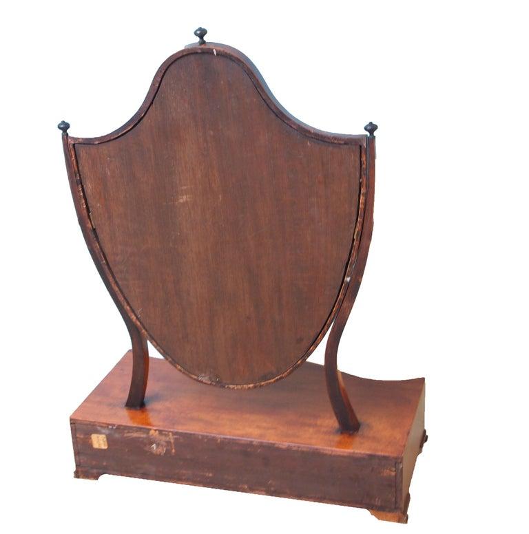 George III Large 18th Century Georgian Mahogany Dressing Table Mirror For Sale