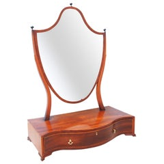 Large 18th Century Georgian Mahogany Dressing Table Mirror