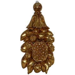 Large 18th Century Italian Baroque Giltwood Ornament