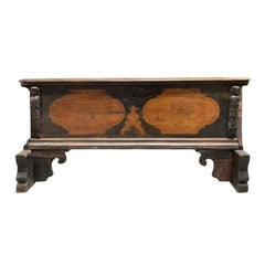 Large 18th Century Italian Carved Coffer Trunk
