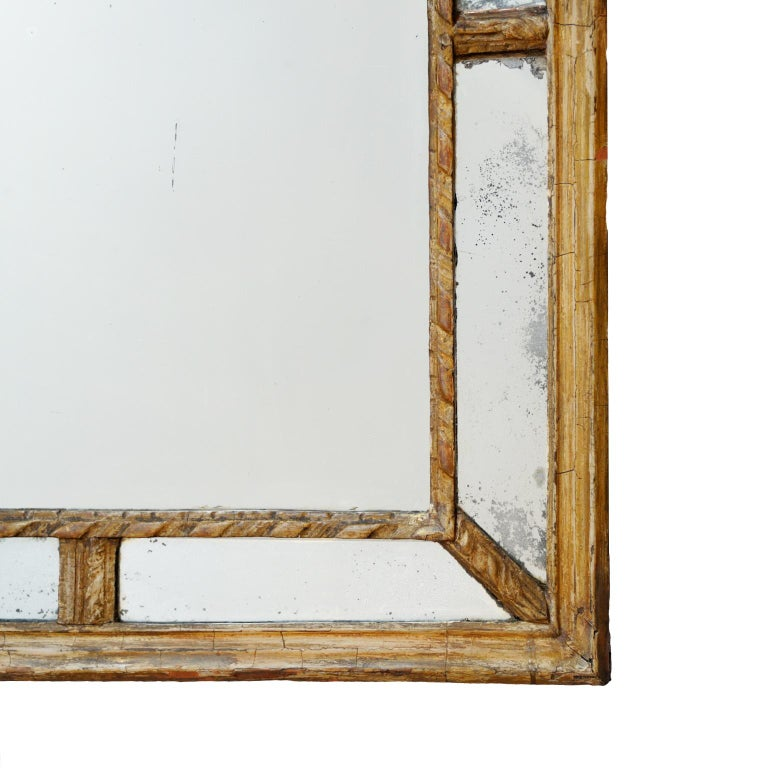 Mid-18th Century Large 18th Century Italian Giltwood Mirror, circa 1760