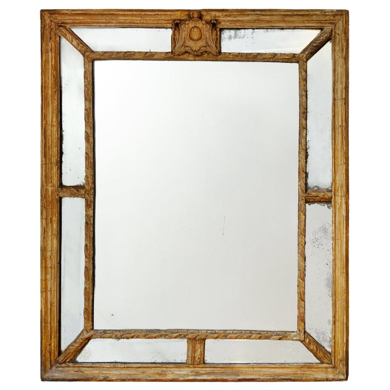 Large 18th Century Italian Giltwood Mirror, circa 1760