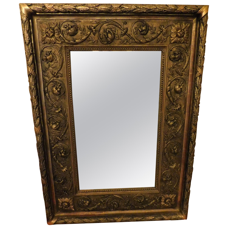 Large 18th Century Italian Gold Framed Mirror