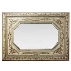 Large 18th Century Italian Neoclassic Silver Gilt Wall Mirror