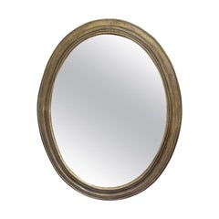 Large 18th Century Italian Neoclassical Oval Mirror