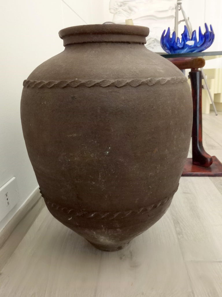 This impressive late, 18th century terracotta water jar was found in the town of Puglia in the South of Italy.