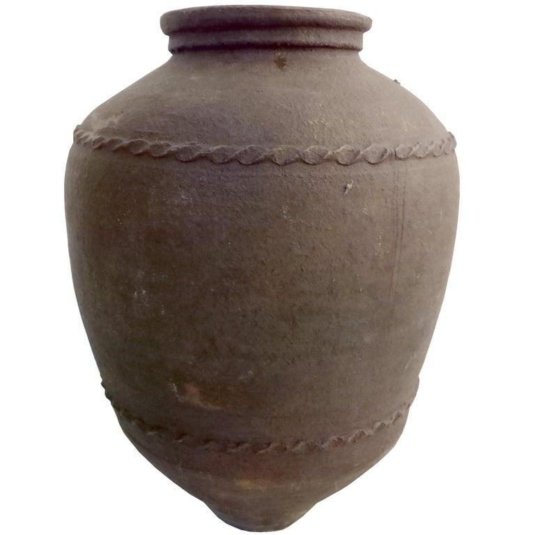 Large 18th Century Italian Terracotta Jar For Sale