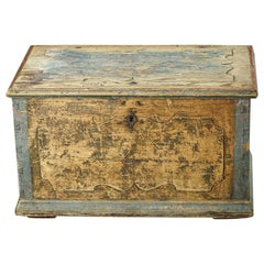 Large 18th Century Swedish Blanket Box