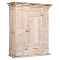 Large 18th Century Swedish Pine Wall Cupboard
