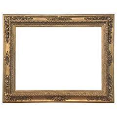 Large 18th Century Venetian Hand Carved Gilded Frame