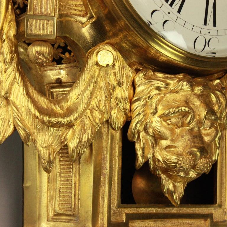 Große 18tes Jahrhundert Wanduhr, Louis XVI, Le Nepveu a Paris signiert 10
