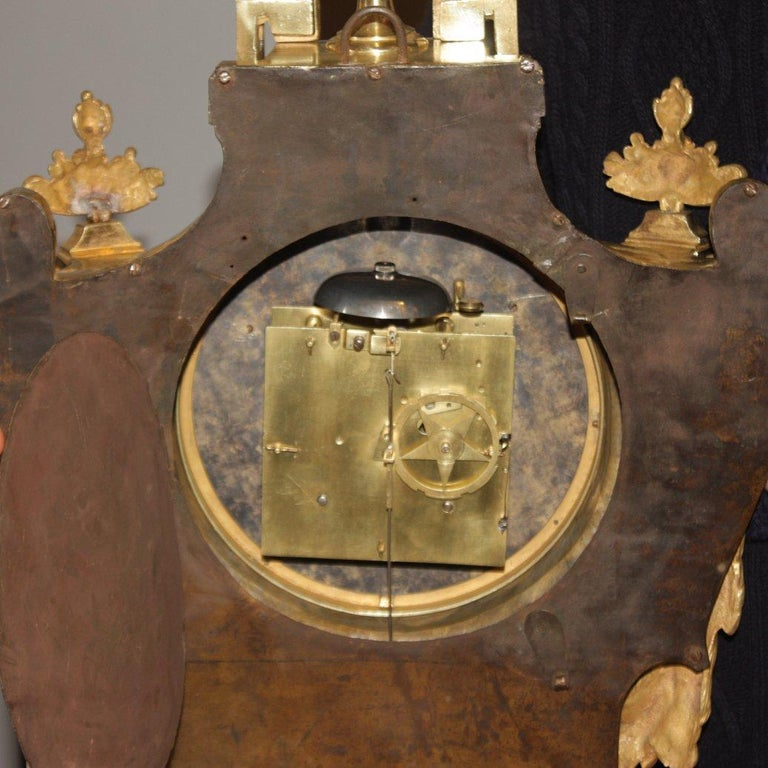 Große 18tes Jahrhundert Wanduhr, Louis XVI, Le Nepveu a Paris signiert 12