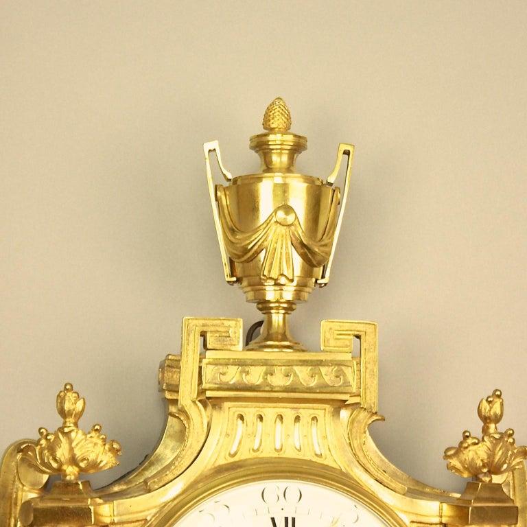 Große 18tes Jahrhundert Wanduhr, Louis XVI, Le Nepveu a Paris signiert 3
