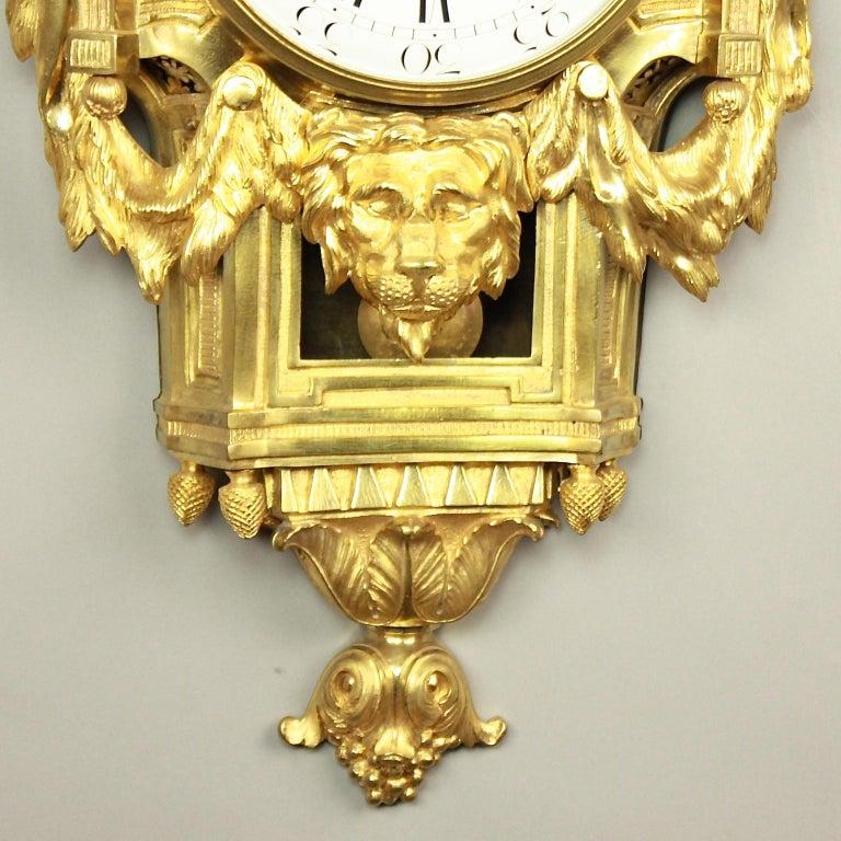Große 18tes Jahrhundert Wanduhr, Louis XVI, Le Nepveu a Paris signiert 5