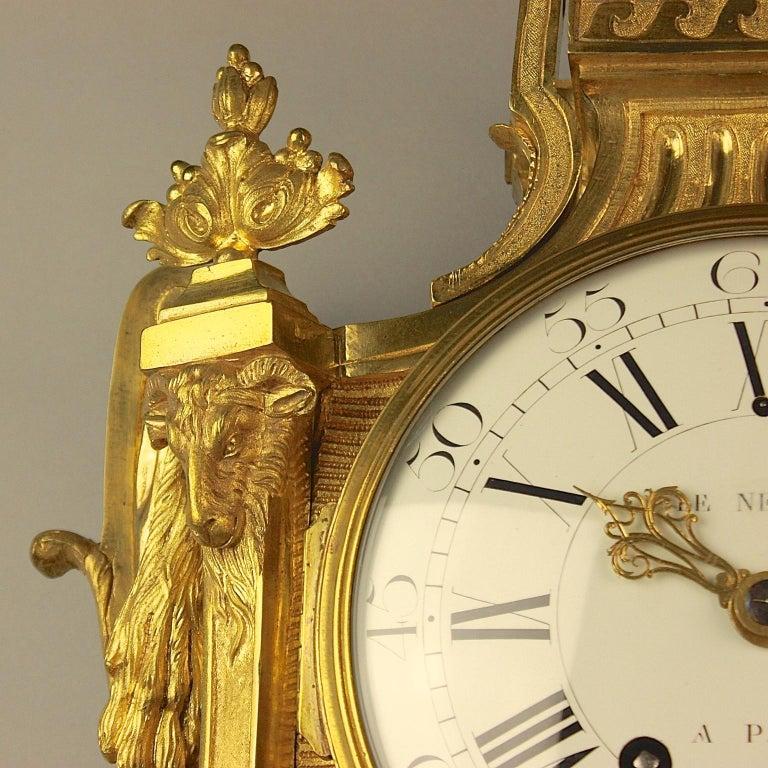 Große 18tes Jahrhundert Wanduhr, Louis XVI, Le Nepveu a Paris signiert 6