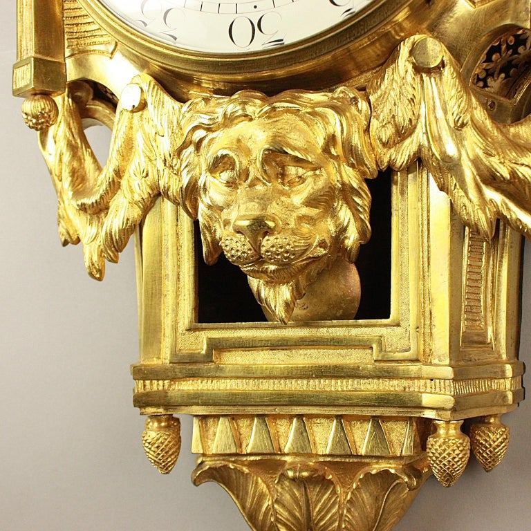 Große 18tes Jahrhundert Wanduhr, Louis XVI, Le Nepveu a Paris signiert 9