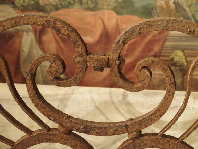 Large 18th Century Wrought Iron Gate Overthrow from Poitiers France For Sale 10