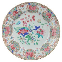 Large 18th Century Yongzheng/Qianlong Chinese Porcelain Famille Rose Charger