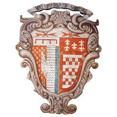 Huge, 18th c., Painted Italian Crest