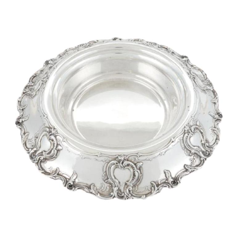 Large 1914 Tiffany & Co Sterling Silver Centerpiece Bowl in Kings Pattern