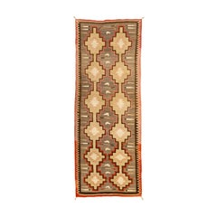 Large 1920s Navajo Crystal Runner/Floor Weaving
