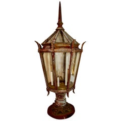 Large 1920s Outdoor Post Light