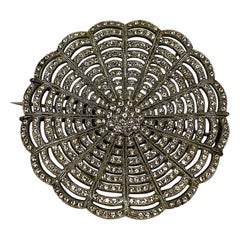 Large 1930s Art Deco Rhinestone Brooch
