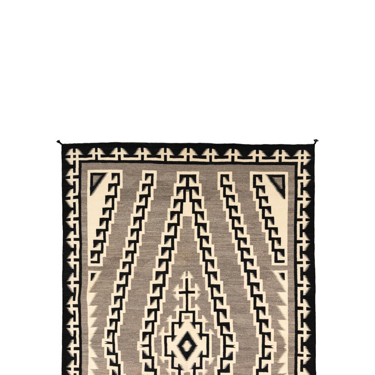 Native American Large 1930s Navajo Crystal Area Weaving For Sale